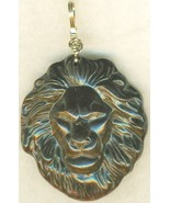 Carved Tigereye Lion Gold Wire Wrap Pendant 67 - $23.95