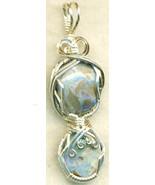 Australian Opal Silver Wire Wrap Pendant 7 - $54.98