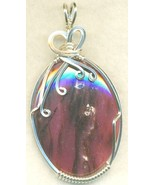 Rhodonite Silver Wire Wrap Pendant 35 - $54.98