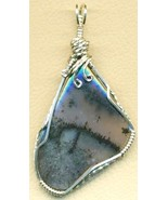 Amethyst Sage Agate Silver Wire Wrap Pendant 24 - $25.99