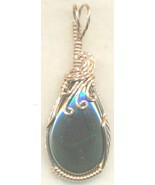 Hematite Copper Wire Wrap Pendant 31 - $27.93