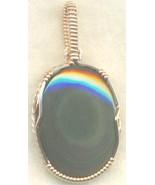 Rainbow Obsidian Copper Wire Wrap Pendant 51 - $19.55