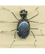 Blue Goldstone Spider Stainless Steel Wire Wrap... - $15.99