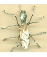 Abalone Shell Spider Stainless Steel Wire Wrap ... - $15.99