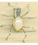 Vintage Glass Spider Stainless Steel Wire Wrap ... - $15.99