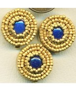 Lapis Beaded Button Covers 9 - $19.90