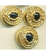 Black Onyx Beaded Button Covers 10 - $19.90
