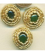 Jade Beaded Button Covers 11 - $9.97