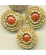 Red Jasper Beaded Button Covers 12 - $19.90