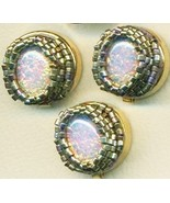 Vintage Opal Glass Beaded Button Covers 17 - $9.97