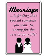 MARRIAGE FINDING SOMEONE TO ANNOY FOR LIFE Nove... - $6.88