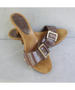 Fioni Slip On Croco Heeled Sandals Size 6.5 - $16.00