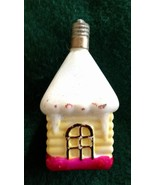 Vintage C-6 Snow Covered Cottage Christmas Bulb