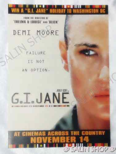 MOVIE POSTER : G.I. Jane (1997) :  Demi Moore , Little Posters ,Ads,Flyers