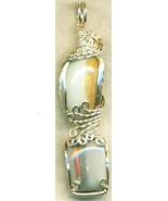 Australian Opal Silver Wire Wrap Pendant 5 - $54.98