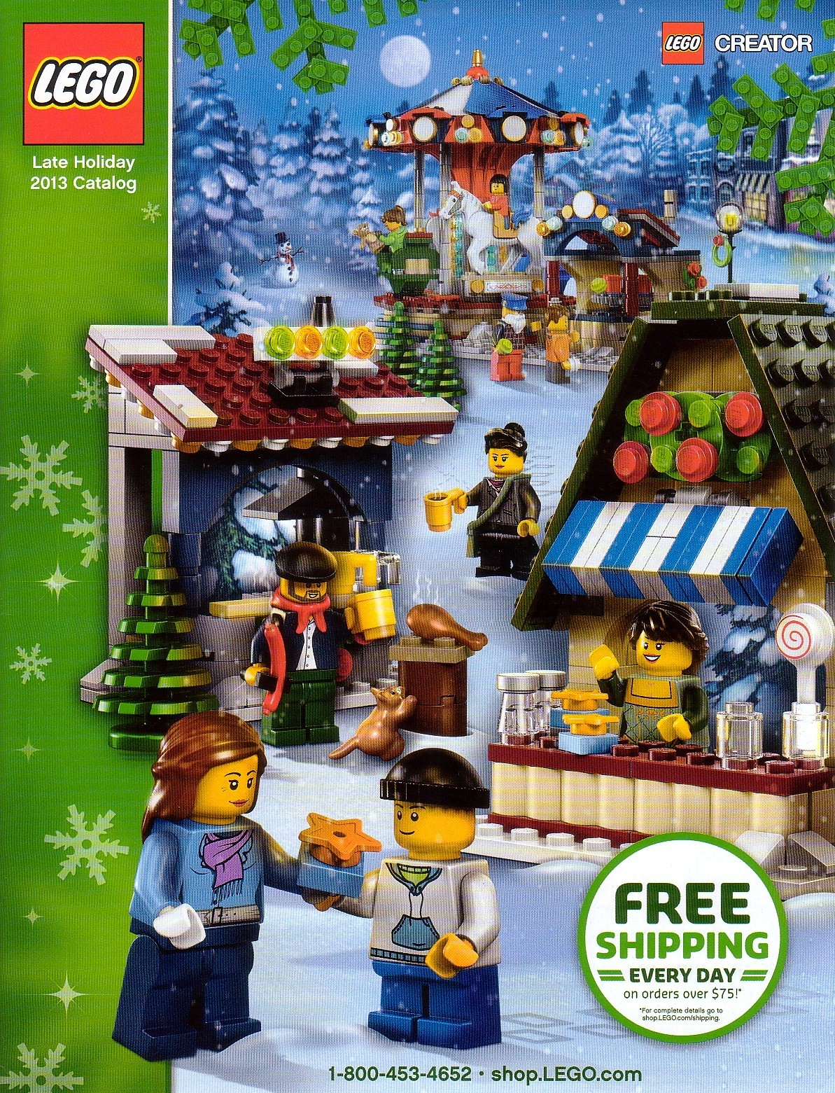 Lego shop at home collectible catalog holiday 2013 new Shop at home