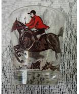 Vintage Horse, Rider, and Hound Fox Hunt Shot G... - $5.00