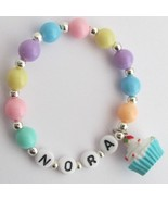 Birthday Party Favor Bracelet Cupcake Charm Mul... - $11.43