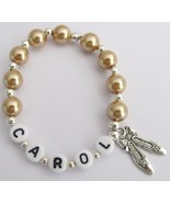 Personalized Ballet Jewelry Golden Champagne Pe... - $10.78