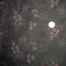 Lovely Vintage Black Cotton Floral Embroidered ... - $60.00