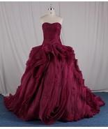 Strapless red ball gown wedding dresses - Dariu... - $1,162.50