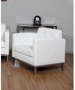 Wall Street Avenue Six White Faux Leather Arm C... - $245.99