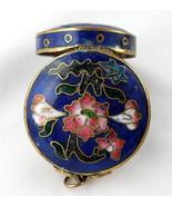 Cloisonne Hinged Enamel Floral Trinket Box - $5.00