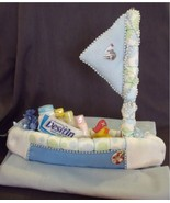 Blue DIAPER SAILBOAT Baby Shower Sail Boat Boy ... - $39.00