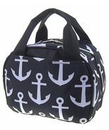 Cute! Anchor Print Insulated Lunch Bag Tote Sai... - $15.99