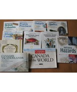National Geographic 11 Maps Canada Travel Histo... - $12.63