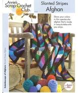ANNIE'S SLANTED STRIPES AFGHAN CROCHET PATTERN  - £6.86 GBP