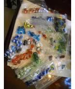 Vintage Marbles Appr. 350 Misc Sizes Colors Mak... - $63.21