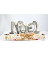 Vintage mid century NOEL Christmas candle holde... - $22.00