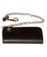 Buffalo Side Snap Bifold Black Leather Wallet H... - $39.99