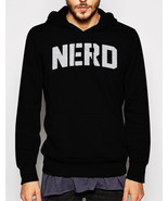 Gift for Men NERD Science Math Geeky Black Hoodie - $37.50