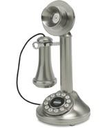 Crosley 1920's Candlestick Phone Brushed Chrome... - $71.82