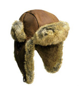 Kakadu  INLANDER  Aviator Hat Buffalo Leather 9... - $69.99