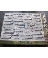 Modern Warplanes Eurographic 1000pc Sealed Mili... - $27.72