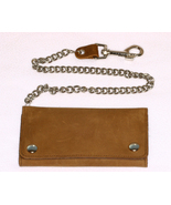 Leather Trifold Credit Card Wallet Brown 7 Inch... - $39.99