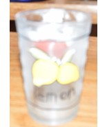 Juice Glass Kie Lemon Apple Clear Glass - $0.99