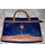 Laptop Bag Navy and Brown Leather-Look Material... - $8.99