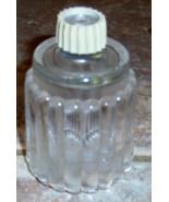Votive Cup Clear Glass Striped Cut Design Small - $0.99