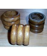 Wooden Napkin Rings (3) Brown - $0.99