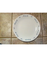 Corelle Dinner Plate Aqua Leaves Corning - $0.99