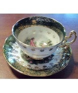 Cup and Saucer Regency Courting Genuine Bone Ch... - $19.99