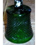 Votive Cup Green Glass Diamond Cut Design Small - $0.99