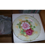 Collector's Plate Roses Pinks Yellow background... - $6.99