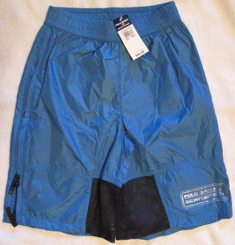 Ralph Lauren Polo Sport Boys Swim Suit Trunks Aqua Size Small 8 New