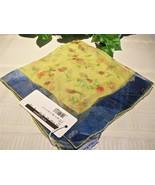Dolce Gabbana Silk Scarf Floral Yellow Flower R... - $49.00