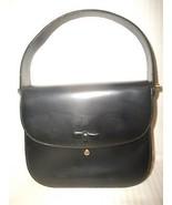 Vintage Voguemont Black Leather Small Purse Han... - $18.54